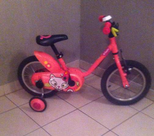 Vélo enfant décathlon rose
