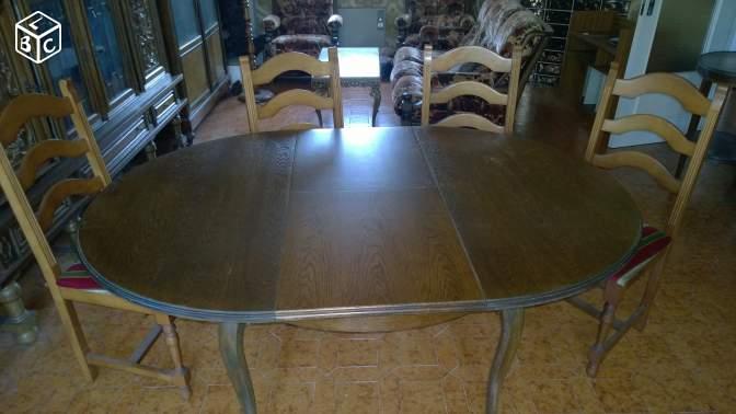 Table de salle à manger avec rallonge